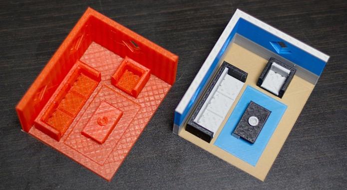 Impressora pode imprimir em várias cores ao mesmo tempo (Foto: Reprodução/Kickstarter)