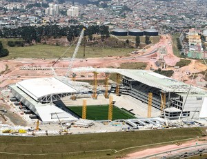 obras Arena Corinthians em São Paulo (Foto: Antonio Miotto / Agência Estado)