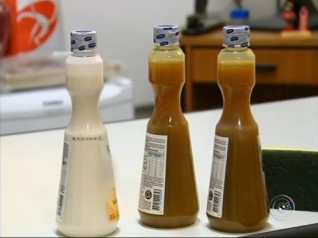 Segundo a DIG, as embalagens com os produtos vencidos tinham as datas de validade raspadas (Foto: Reprodução/TV Tem)