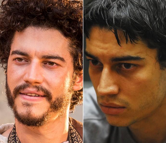 Lee Taylor mostra transformações no visual que fez por seus personagens; na foto, à esquerda o ator como Martim, em 'Velho Chico' e, à esquerda, o ator como o seu personagem no filme 'Salve Geral'  (Foto: Gshow/ Arquivo Pessoal)