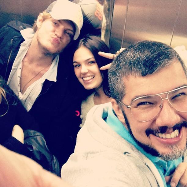 Isis Valverde com o namorado, Tom Rezende, e Ton Reis (Foto: Instagram/ Reprodução)