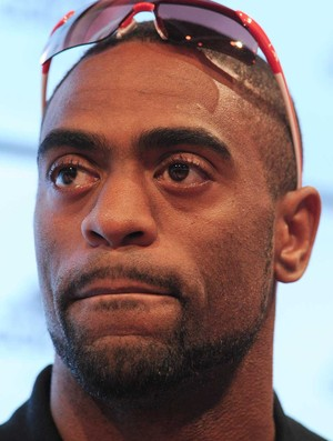Tyson Gay coletiva Londres (Foto: AFP)