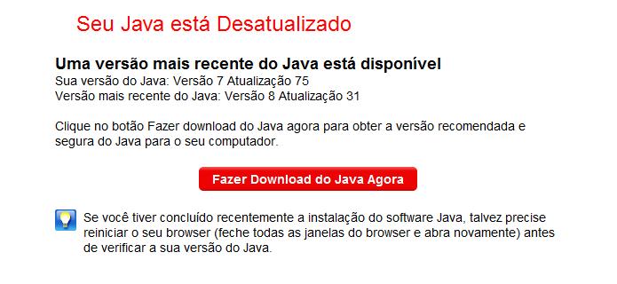 Verificando versão do Java (Foto: Reprodução/Helito Bijora)