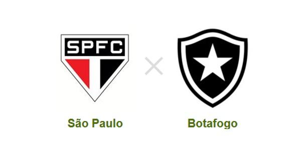 São Paulo e Botafogo se enfrentam no Morumbi (Foto: Reprodução)