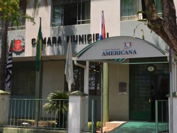 A Câmara dos Vereadores de Americana, SP (Foto: Fernando Pacífico / G1 Campinas)