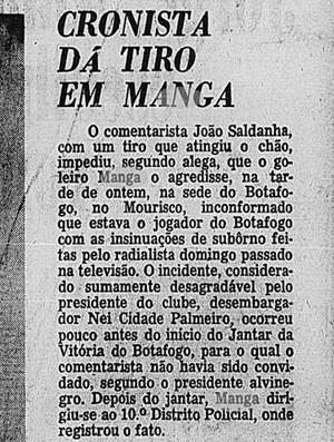 Manga jornal Correio da Manhã caso Botafogo  (Foto: Arquivo / Correio da Manhã)