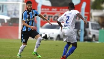 Grêmio vence a segunda pelo mesmo  placar e assume a ponta no Gauchão (Lucas Uebel/Grêmio Divulgação)