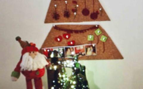 Cortiça vira árvore de Natal. Veja como é fácil fazer