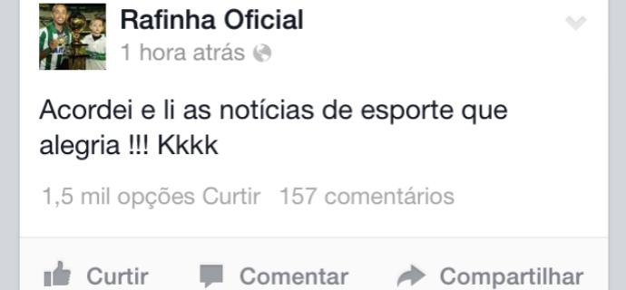 Rafinha tira sarro do vice do Atlético-PR Coritiba (Foto: Reprodução / Facebook)