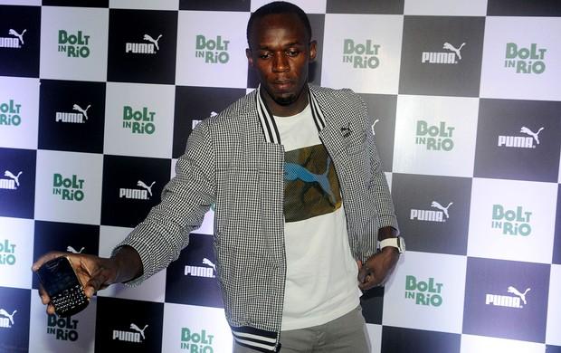 Usain Bolt na boate 00, na gávea (Foto: André Durão / Globoesporte.com)
