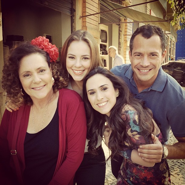 Elizabeth, Paolla, Tatá e Malvino (Foto: Instagram/ Reprodução)