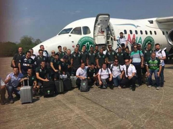 Chapecoense avião embarque Colômbia