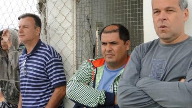 Flávio Lopes e Amarildo Ribeiro Nacional de Muriaé (Foto: Silvan Alves)