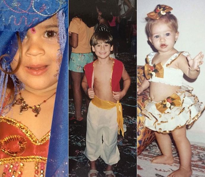 É muita fofura! Lívian Aragão, Nicolas Prattes e Laryssa Ayres em ritmo de Carnaval (Foto: Arquivo pessoal)
