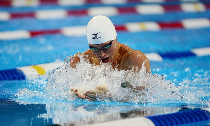 seletiva olímpico americana - Kevin Cordes garantiu a vaga olímpica dos 100m peito (Foto: Jeff Curry / Getty Images)