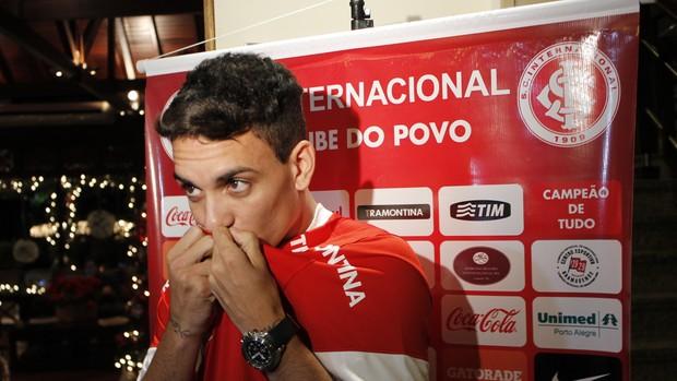 Caio, novo atacante do Inter (Foto: Diego Guichard / GLOBOESPORTE.COM)
