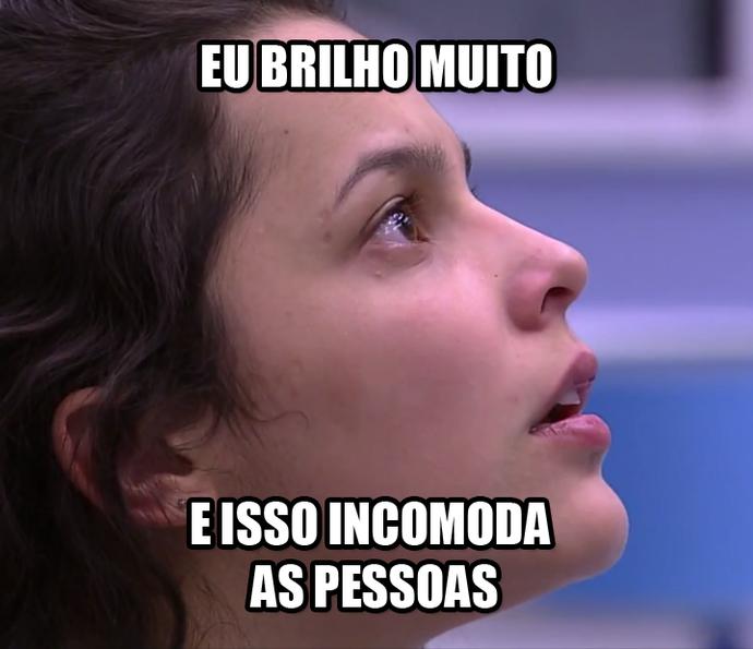 Emilly eu brilho muito e isso incomoda as pessoas (Foto: TV Globo)