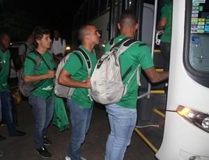 Coritiba desembarque ônibus Sousa/Paraíba (Foto: Divulgação / site oficial do Coritiba)