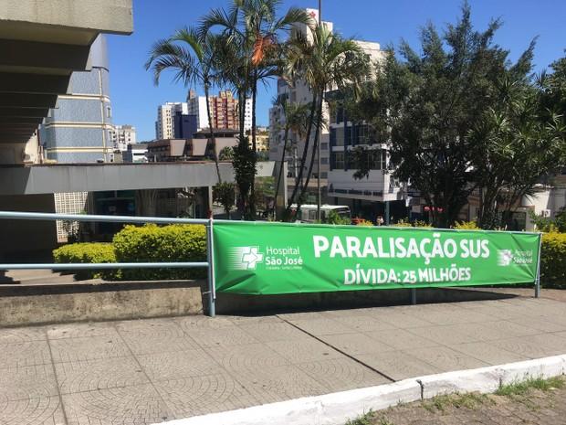 Hospital São José anunciou paralisação de serviços do SUS (Foto: Janine Limas/RBS TV)