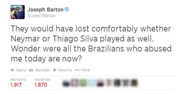 Joseph Barton (Foto: Twitter/Reprodução)