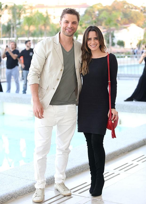 Fernanda Vasconcellos e Cssio Reis no Rio Moda Rio (Foto: Gianne Carvalho)