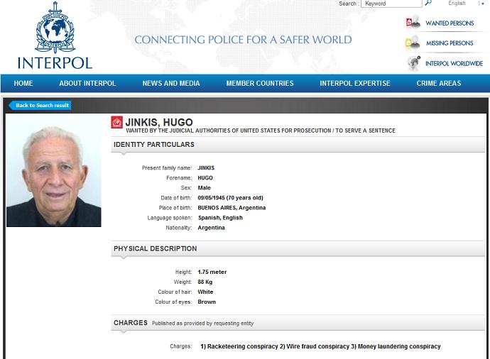 Hugo Jinkis, Interpol