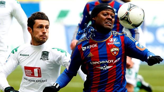 Vagner Love jogo CSKA FC Krasnodar (Foto: Getty Images)