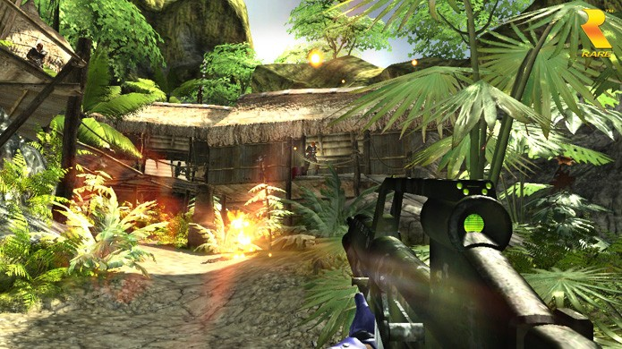 Apesar de alguns exageros, Perfect Dark Zero era um jogo bem bonito no seu tempo (Foto: Reprodução/Perfect Dark Recon)