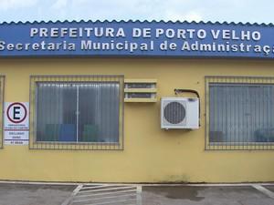 Secretaria Municipal de Administração, em Porto Velho (Foto: Reprodução/Rede Amazônica RO)