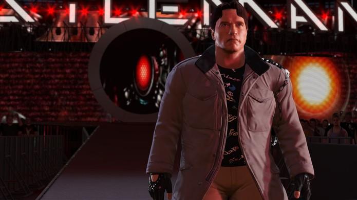 Tenha uma entrada no ringue de WWE 2K16 tão boa quanto a do Exterminador do Futuro (Foto: Divulgação/2K Games) (Foto: Tenha uma entrada no ringue de WWE 2K16 tão boa quanto a do Exterminador do Futuro (Foto: Divulgação/2K Games))