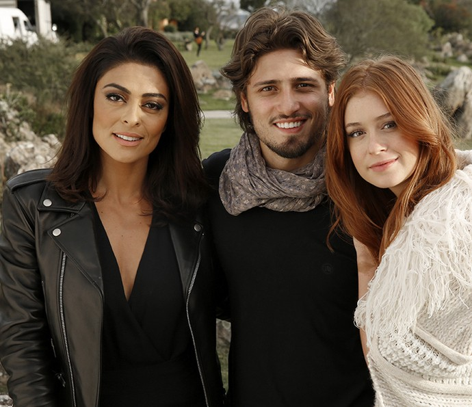 Juliana Paes, Daniel Rocha e Marina Ruy Barbosa aproveitam o balneário uruguaio (Foto: Chico Couto/Gshow)