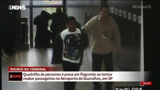 Quadrilha de peruanos é presa por roubos no aeroporto de Guarulhos (SP)