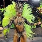 Laynara Teles, rainha da bateria da escola (Alexandre Durão/G1)