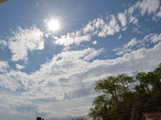 Sol forte e muito calor em Itaocara, no Noroeste Fluminense. (Foto: Fulvia Defante/Arquivo Pessoal)