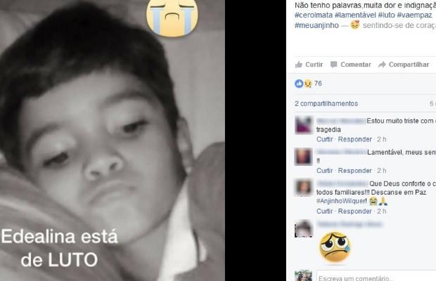 Wilquer Vaz Rodrigues morre após ter pescoço ferido por linha de pipa com cerol em Edealina, Goiás (Foto: Reprodução/ Facebook)