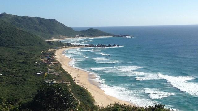 Vista da trilha para a Praia do Gravatá (Foto: Adriana Krauss/Arquivo pessoal)