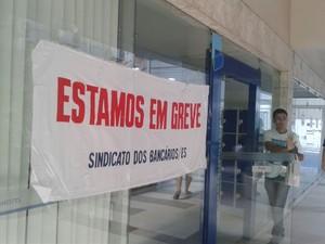 Agência do Banestes em Vitória (Foto: Kaique Dias/ CBN Vitória)
