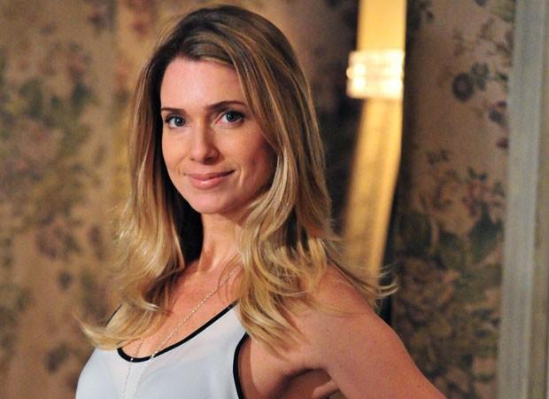 4º lugar: Letícia Spiller. A atriz usa um mix de coloração composto por castanho claro e loiro escuro (Foto: Divulgação/TV Globo)