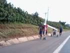 Quatro homens de Tatuí, SP, começam romaria de 169 km