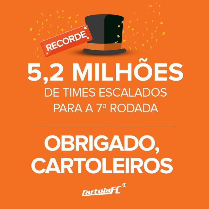 card recorde cartola escalações 7ª rodada (Foto: Infografia GloboEsporte.com)