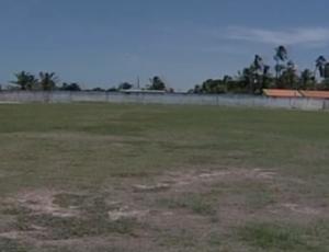 Gramado Estádio Verdinho, em Parnaíba  (Foto: reprodução/TV Clube )