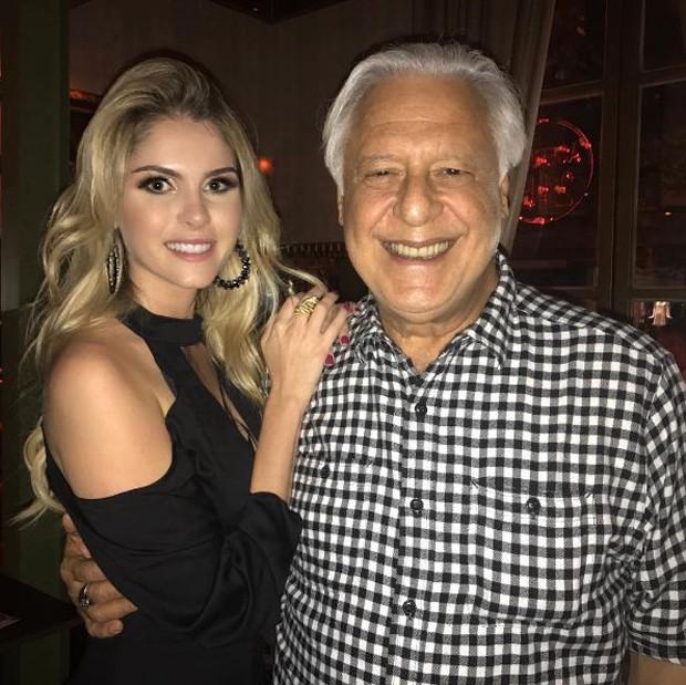 Bárbara Evans e Antônio Fagundes (Foto: Reprodução/Instagram)
