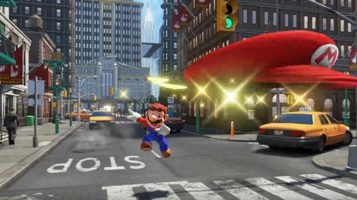 Super Mario Odyssey permitirá que o herói use o boné como poder (Foto: Divulgação/Nintendo)