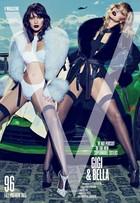 HOT! Gigi Hadid e a irmã, Bella, posam de lingerie em capa de revista