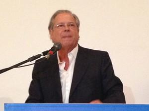 O ex-ministro José Dirceu em evento do PT em Brasília (Foto: Heloisa Fávaro/G1)