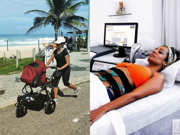 Aline Prado corre na orla do Rio com o filho e faz tratamentos estéticos (Foto: Arquivo Pessoal)