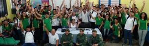 Escola participa de gincana ambiental no Consciência Limpa (Onofre Martins/Rede Amazônica)