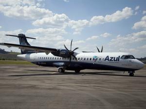 Companhia inaugurou trecho de voo em MT (Foto: Divulgação/Azul Linhas Aéreas)