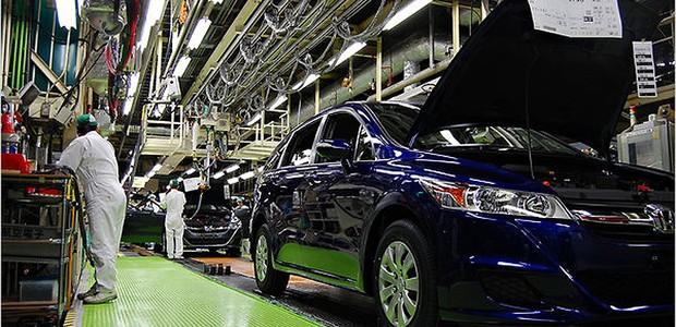 Fábrica de veículos da Honda no Japão (Foto: Getty Images)