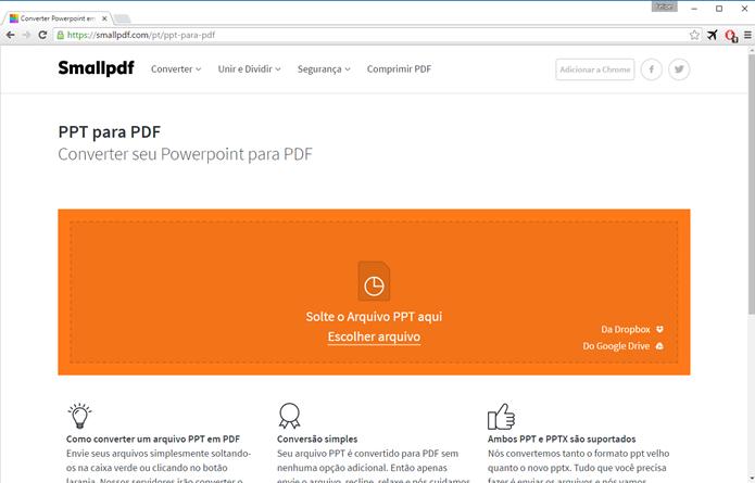 SmallPDF é simples, rápido e direto (Foto: Felipe Alencar/TechTudo)